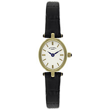 Buy Rotary LS02713/03 Women's Oval Leather Strap Watch, Gold Online at johnlewis.com