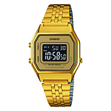 Buy Casio LA680WEGA-1BEF Unisex Digital Stainless Steel Bracelet Watch, Gold Online at johnlewis.com