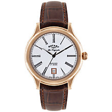 Buy Rotary LE90010/01 Men's Automatic Les Originales Watch, Rose Gold Online at johnlewis.com