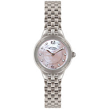 Buy Rotary LB02760/07 Women's Mother of Pearl Stainless Steel Bracelet Watch, Silver Online at johnlewis.com
