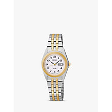 Buy Seiko SUT116P9 Women's Two Tone Bracelet Watch, Gold Online at johnlewis.com