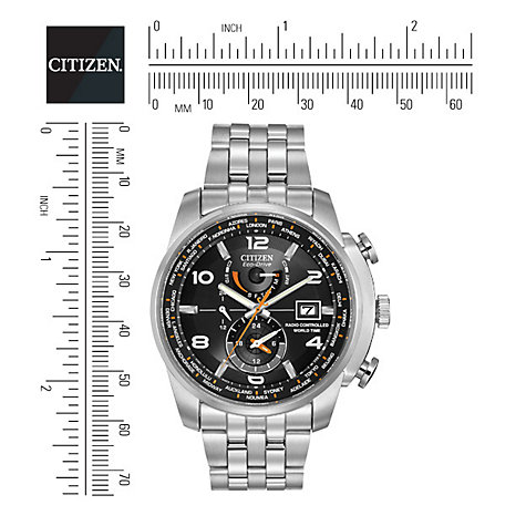 Buy Citizen AT9010-52E Men's World Time Stainless Steel Bracelet Strap Chronograph Watch Online at johnlewis.com