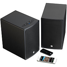 Buy Q Acoustics BT3 Bluetooth Stereo Speakers, Jet Black Online at johnlewis.com