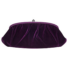 Buy Phase Eight Angelina Clutch Handbag, Grape Online at johnlewis.com