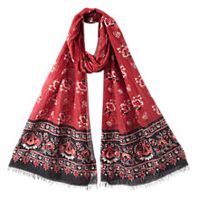 Buy East Amina Print Scarf, Scarlet Online at johnlewis.com