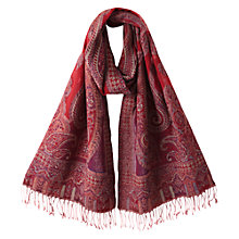 Buy East Premium Wool Shawl, Scarlet Online at johnlewis.com