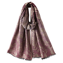Buy East Damask Ombre Scarf, Beetroot Online at johnlewis.com
