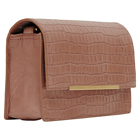 Buy Reiss Liza Embossed Shoulder Across Body Handbag Online at johnlewis.com