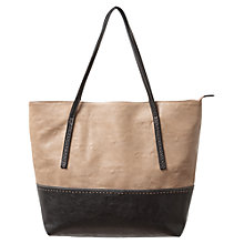 Buy East Colour Block Tote Handbag, Black Online at johnlewis.com
