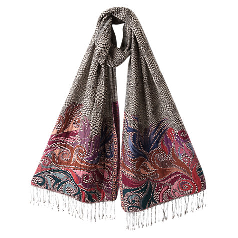 Buy East Mono Border Scarf, Multi Online at johnlewis.com