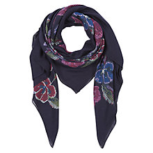 Buy NW3 by Hobbs Cross Stitch  Scarf,  French Navy Online at johnlewis.com