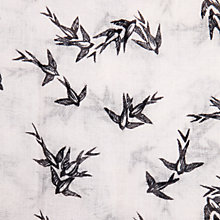 Buy Warehouse Swallow Print Scarf, White Online at johnlewis.com