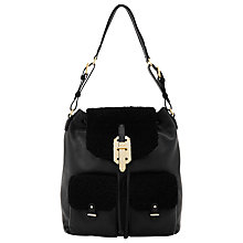 Buy Reiss Irish Shearling Rucksack, Black Online at johnlewis.com