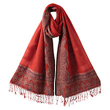 Buy East Ora Embellished Shawl, Mandarin Online at johnlewis.com