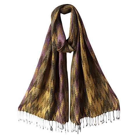 Buy East Shimmer Jacquard Shawl, Multi Online at johnlewis.com