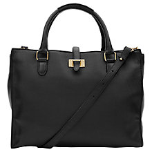 Buy Reiss Joyce Leather Tote Handbag, Black Online at johnlewis.com