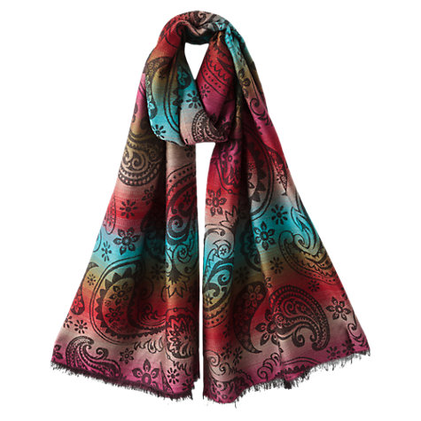 Buy East Abstract Paisley Scarf, Multi Online at johnlewis.com