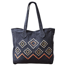 Buy East Aztec Woven Tote Handbag, Ink Blue Online at johnlewis.com