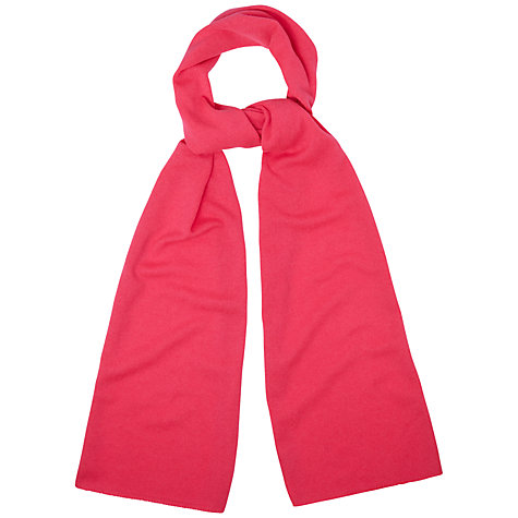 Buy Jaeger London Wool Scarf, Bright Pink Online at johnlewis.com