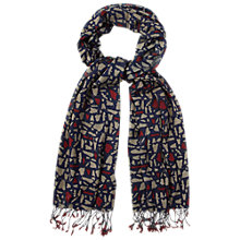 Buy White Stuff Moth Print Scarf, Blue Online at johnlewis.com