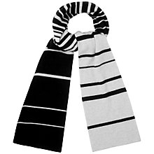 Buy Jaeger Striped Cashmere Scarf, Black/White Online at johnlewis.com