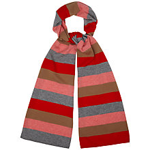 Buy Jaeger Striped Scarf, Red Online at johnlewis.com