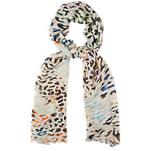 Buy Jaeger Leopard Print Scarf, Light Multi Online at johnlewis.com