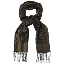 Buy Jaeger Lurex Leopard Print Scarf, Black Online at johnlewis.com