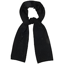 Buy Boutique by Jaeger Crystal Knit Scarf, Black Online at johnlewis.com