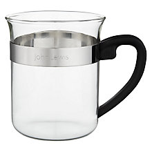 Buy House by John Lewis Glass Coffee Mug Online at johnlewis.com
