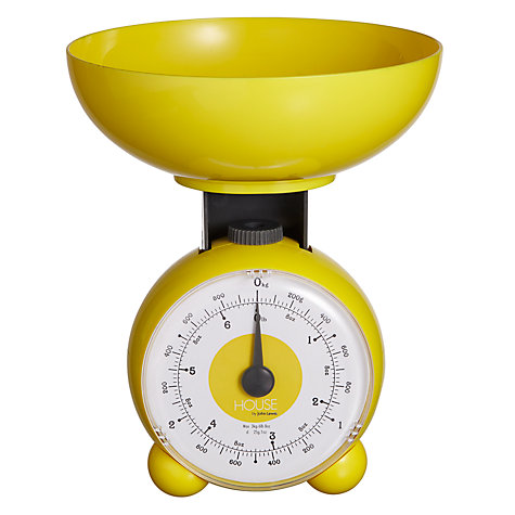 Buy House by John Lewis Orb Mechanical Scale, 3kg, Yellow Online at johnlewis.com