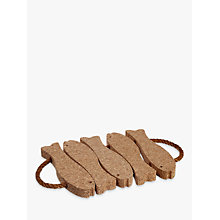 Buy John Lewis Cork Fish Trivet, Medium Online at johnlewis.com