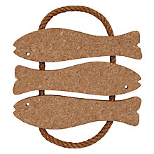 Buy John Lewis Cork Fish Trivet, Small Online at johnlewis.com