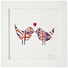 Buy Bertie & Jack 'Love Birds' Framed Cut-out, 27.4 x 27.4cm Online at johnlewis.com