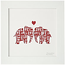 Buy Bertie & Jack 'Always and Forever' Framed Cut-out, 27.4 x 27.4cm Online at johnlewis.com