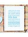Megan Claire Personalised New Baby Framed Print, 35.5 x 27.5cm