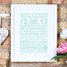 Buy Megan Claire Personalised Couples Framed Print, 35.5 x 27.5cm Online at johnlewis.com