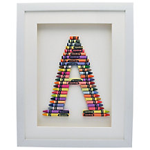 The Letteroom Crayon Letter Framed 3D Artwork