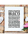 Megan Claire Personalised Couples Framed Print, 35.5 x 27.5cm