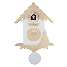 Buy Diamantini & Domeniconi Chalet Cucu Wall Clock, White, Dia.26cm Online at johnlewis.com