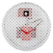 Buy Diamantini & Domeniconi OraOra Wall Clock, Red, Dia.32.5cm Online at johnlewis.com