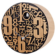 Buy Diamantini & Domeniconi Metropolis Wall Clock, Dia. 25.5cm Online at johnlewis.com