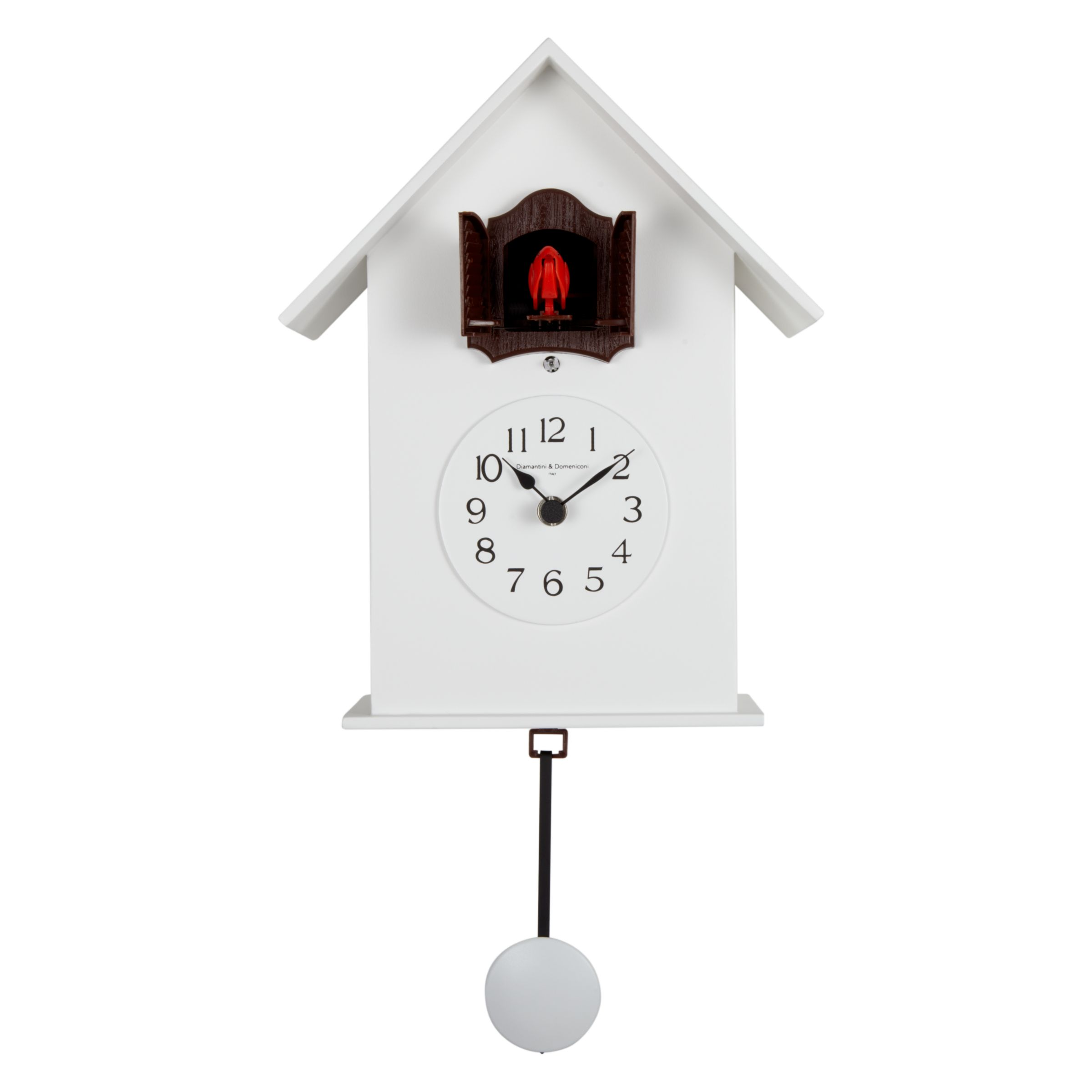 Diamantini & Domeniconi Diamantini & Domeniconi Meridiana Cucu Wall Clock, White, Dia.18cm