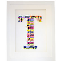 Buy The Letteroom Crayon T Framed 3D Artwork, 34 x 29cm Online at johnlewis.com