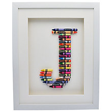 Buy The Letteroom Crayon J Framed 3D Artwork, 34 x 29cm Online at johnlewis.com
