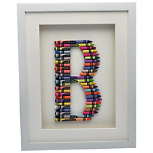 Buy The Letteroom Crayon B Framed 3D Artwork, 34 x 29cm Online at johnlewis.com