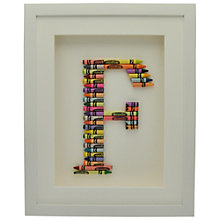 Buy The Letteroom Crayon F Framed 3D Artwork, 34 x 29cm Online at johnlewis.com