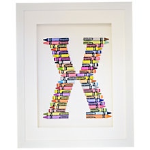 Buy The Letteroom Crayon X Framed 3D Artwork, 34 x 29cm Online at johnlewis.com