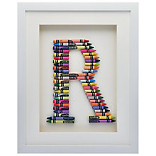 Buy The Letteroom Crayon R Framed 3D Artwork, 34 x 29cm Online at johnlewis.com