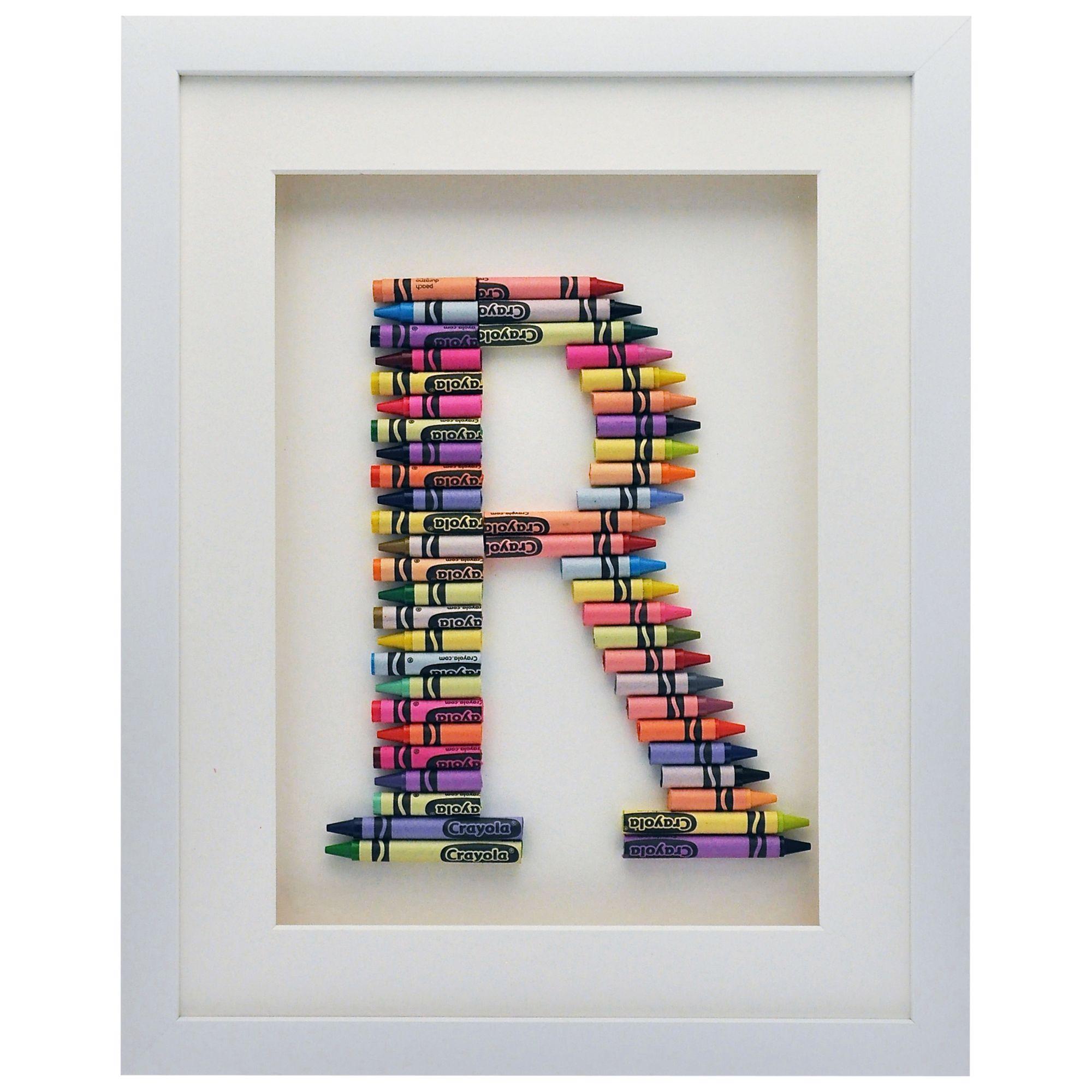 The Letteroom The Letteroom Crayon R Framed 3D Artwork, 34 x 29cm